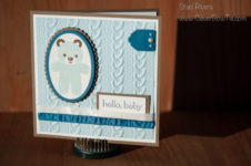 Baby Bear Card using Cookie Cutter Christmas stamp set by Stampin'Up! Staci Rivera at Clever Bow Tie Designs
