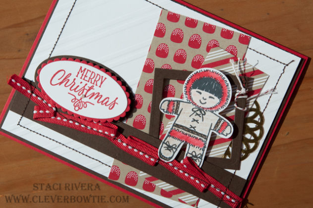 Cookie Cutter Christmas Card by Staci Rivera at Clever Bow Tie Designs. Stampin' Up! SU Pretty Pals Blog Hop