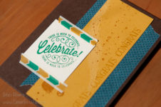 Masculine Congrats Card using Here's to Cheers stamp set and Moroccan Washi Tape. Stampin' Up! SU