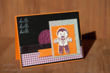 Hello, Dracula card. Cookie Cutter Halloween Stamp Set. Staci Rivera. SU StampinUp!