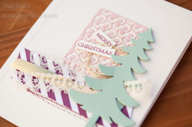Fun Christmas Card with Santa's Sleigh and Here's to Cheers. #GDP057 StampinUp