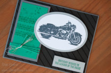 Motorcycle Birthday Card. One Wild Ride. Stampin' Up! SU Staci Rivera