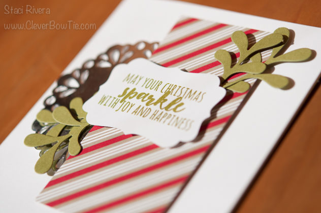 Simple and lovely Christmas Card. Christmas Pines Stamp set, Pretty Pines Thinlits. Staci Rivera SU Stampin' Up!
