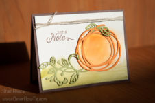 Fun Fall Pumpkin card. Swirly Scribbles, Flourishing Phrases, Flourish thinlits by Stampin Up. Staci Rivera