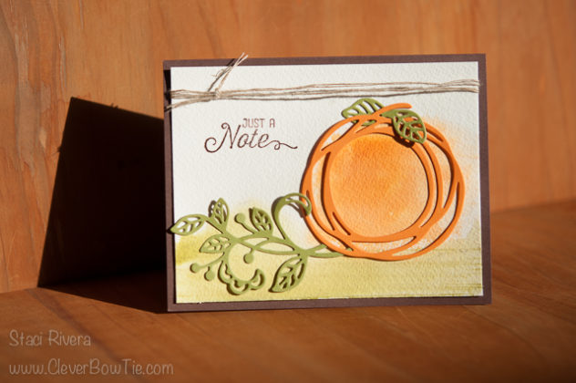 Fun Fall Pumpkin card. Swirly Scribbles, Flourishing Phrases, Flourish thinlits by StampinUp. Staci Rivera
