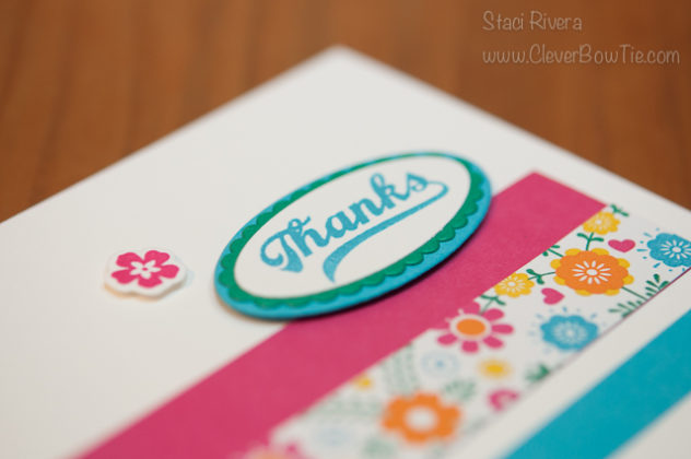 Simple Bright Thank You card. Jars of Love stamp set bundle. Staci Rivera, Stampin Up! SU