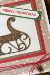 Card class sneak Peek featuring the Santa's Sleigh bundle. Staci Rivera Stampin Up SU