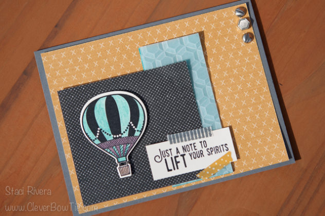 Uplifting card created with Lift me Up stamp set and Urban Underground paper from Stampin' Up! Staci Rivera SU