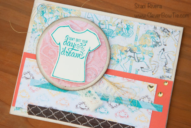 Daydreams, Cupcakes, and Carousels card by Staci Rivera using Stampin' Up products